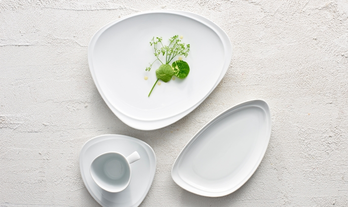 This cool blue colored porcelain is great as a standalone item or combined with other porcelain patterns. & Drift - Royal Porcelain - Porcelain - Dinnerware