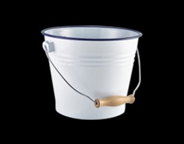 Enamel Bucket White W...