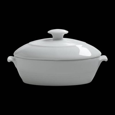 Large Oval Bowl W/Lid