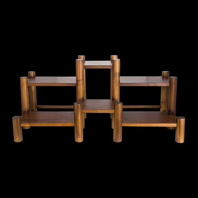 6 Level Coffee/Condiment Acacia Wood Stand