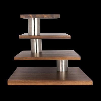 4 Level Signature Stand Acacia Wood