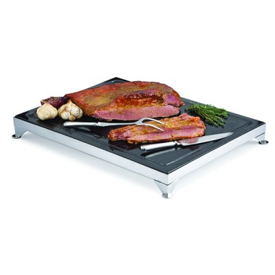 Carving Board Black Granite With Frame And Electric