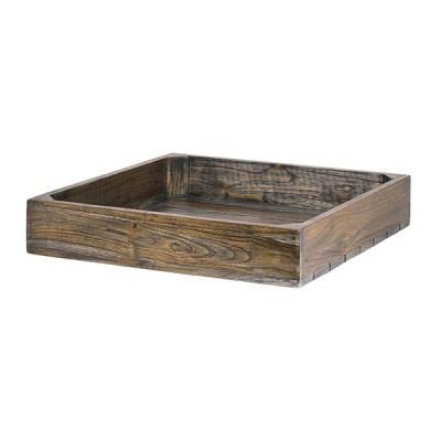 Wood Flat Basket