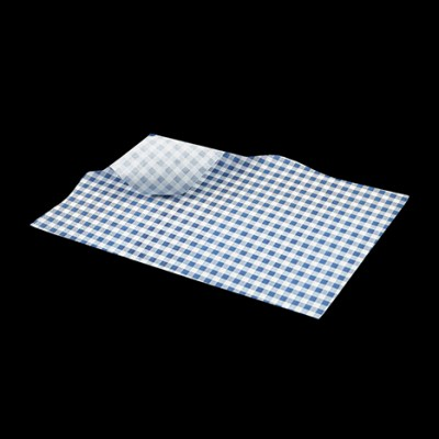 Greaseproof Paper Blue Gingham