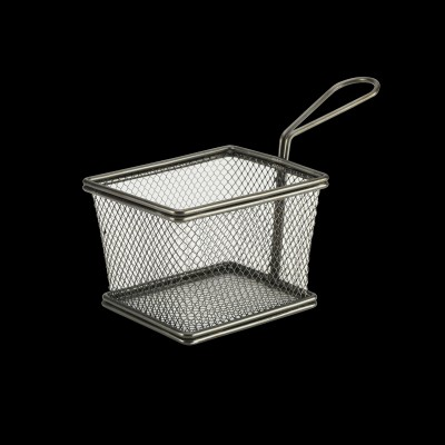 Serving Fry Basket Rectangle Black