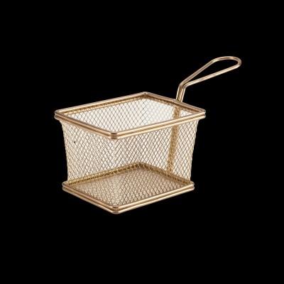 Serving Fry Basket Rectangle Copper