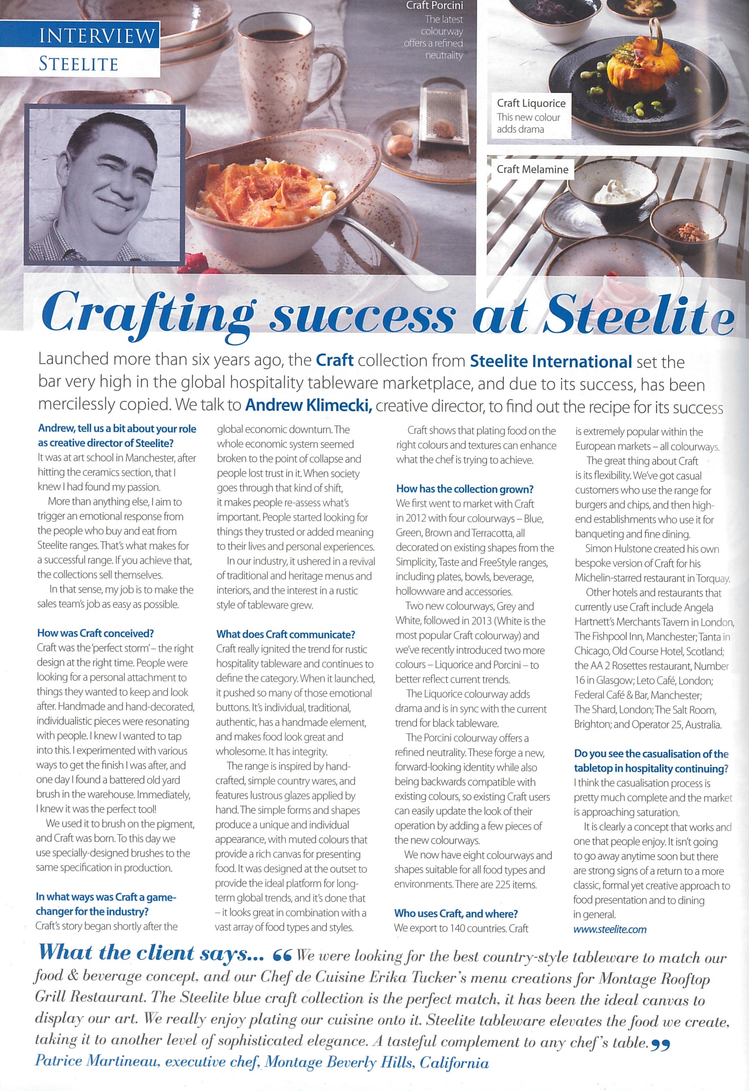 Crafting Success at Steelite